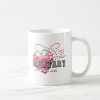 Love will keep us together basic white mug