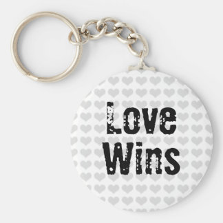 Love Wins Basic Round Button Key Ring