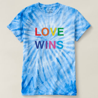 Love Wins Blue Tie-Dye Shirt