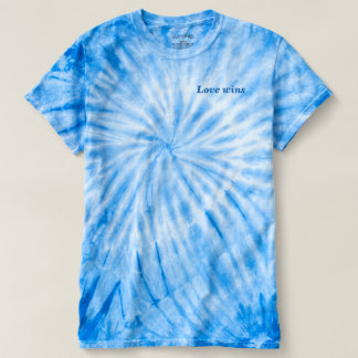 Love Wins Blue Tie-Dye T-Shirt