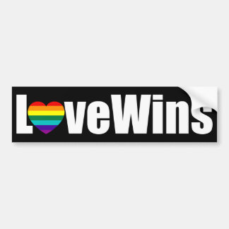 Love Wins Bumper Sticker