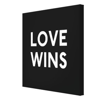 Love Wins Canvas Wrapped B&W Print
