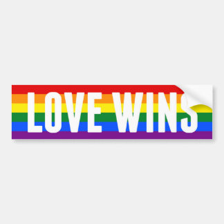 LOVE WINS gay marriage bumper sticker