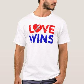 Love Wins - Jesus Saves (Heart) T-Shirt