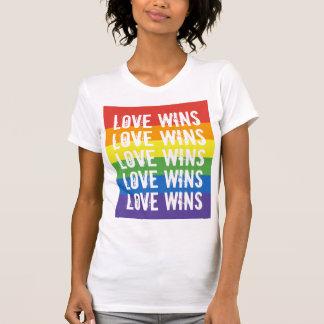 Love Wins - Love Equality Rainbow Flag T-Shirt