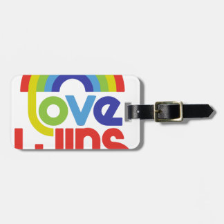 Love Wins Luggage Tag