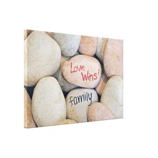 Love Wins-message on rocks Canvas Print