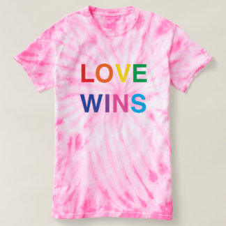 Love Wins Pink Tie-Dye Shirt