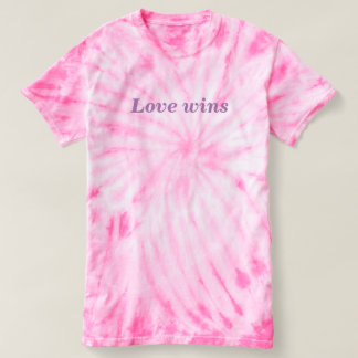 Love Wins Pink Tie-Dye T-Shirt