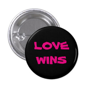 LOVE WINS Small, 1¼ Inch Round Button