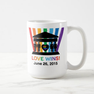 Love Wins, We R1 Jewish Hard Mug