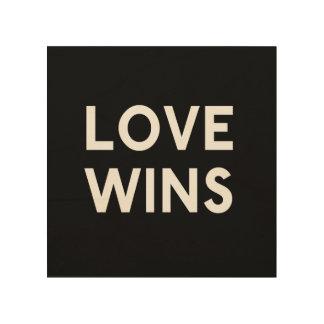 Love Wins Wood Square Canvas Wood Print