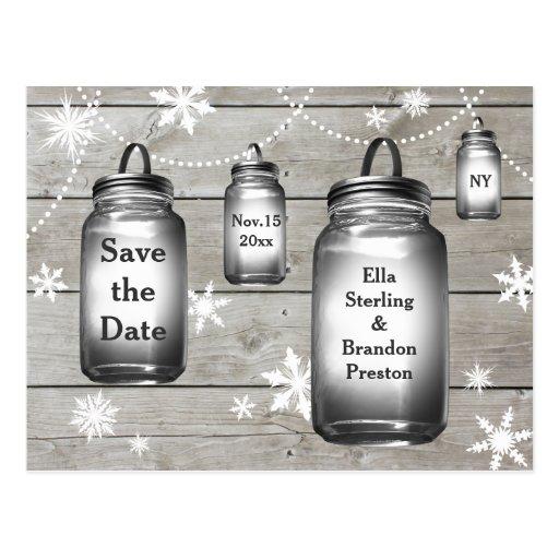 Love Winter Barn Weddings Save the Date Post Card