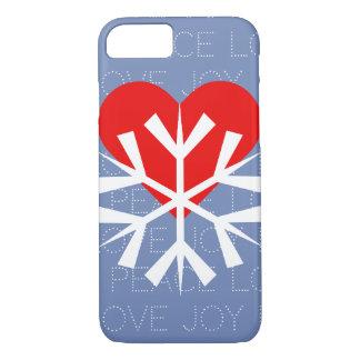 LOVE WINTER Heart Snowflake iPhone 8/7 Case