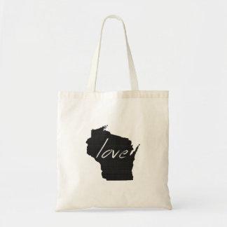 Love Wisconsin Tote Bag