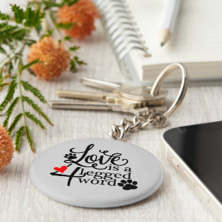Love With 4 Legs Key Ring