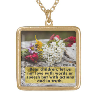 Love With Action And Truth Gold Plated Necklace