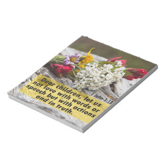 Love With Action And Truth Notepad