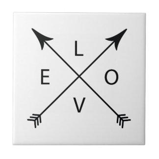 Love with Arrows Ceramic Tile