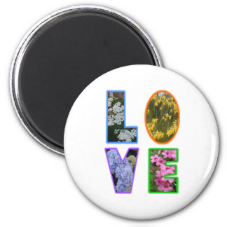 Love with Flowers Magnets