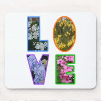 Love with Flowers Mouse Mat