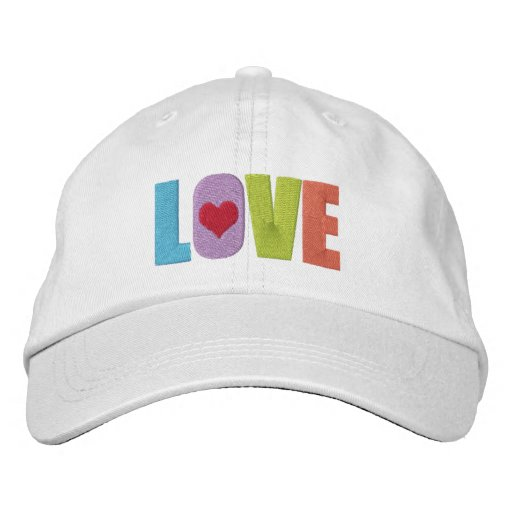 Love With Heart Detail Colorful Baseball Cap
