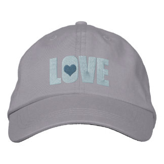 Love With Heart Detail Embroidered Baseball Cap