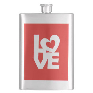 Love with Heart Flask