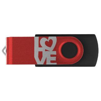Love with Heart Swivel USB 2.0 Flash Drive