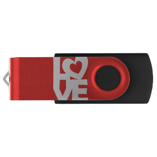 Love with Heart Swivel USB 3.0 Flash Drive