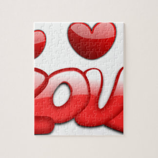 Love with hearts jigsaw puzzle