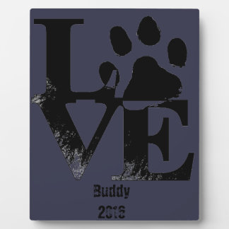 LOVE With Paw Plaque