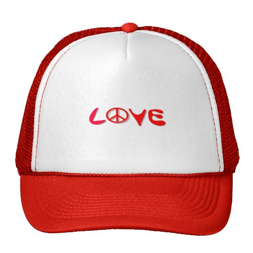 Love With Peace Sign Trucker Hat