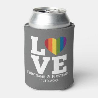 Love with Rainbow Heart Wedding Names Dates