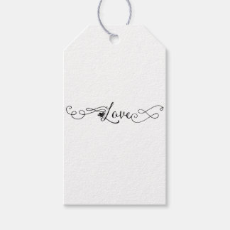 Love with Swirls Gift Tags