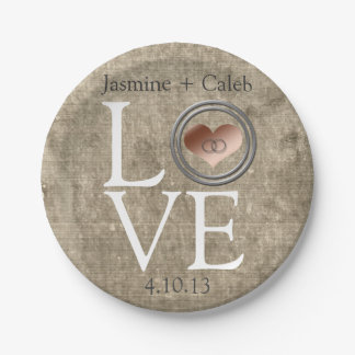 Love-With This Ring... 7 Inch Paper Plate