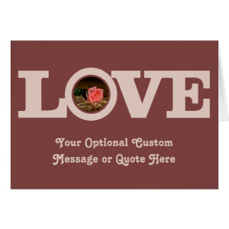 LOVE with YOUR PHOTO custom greeting card