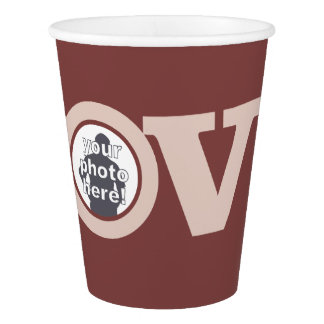 LOVE with YOUR PHOTO custom paper cups