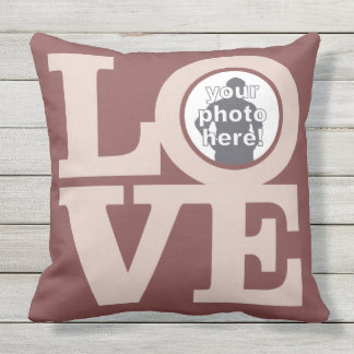 LOVE with YOUR PHOTO custom throw pillow