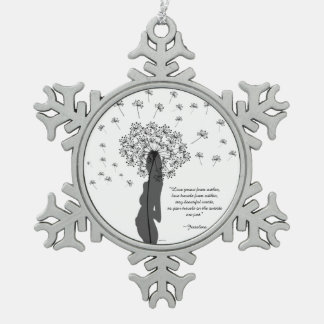 Love Within Snowflake Pewter Christmas Ornament