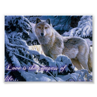 LOVE WOLF POSTER