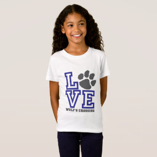 LOVE Wolf's Crossing Girls T-Shirt