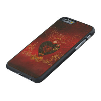 Love, wonderful hearts carved maple iPhone 6 case