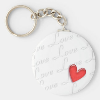 Love, wonderful love basic round button key ring