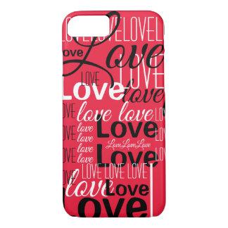 Love Word Art Pattern iPhone 8/7 Case