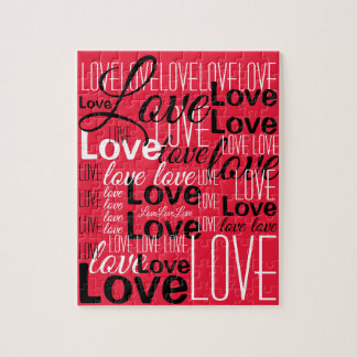 Love Word Art Pattern Jigsaw Puzzle