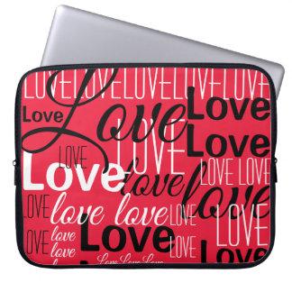Love Word Art Pattern Laptop Sleeve