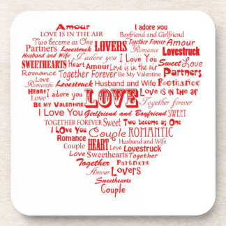 Love word collage coaster set