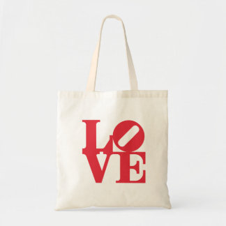 Love Word Graphic art sign color red Tote Bag
