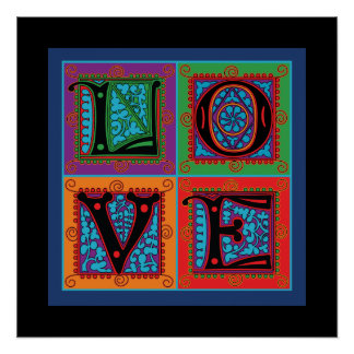 Love Word Typography Poster